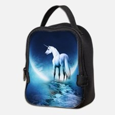 White Unicorn Neoprene Lunch Bag