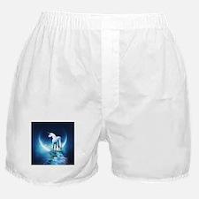 White Unicorn Boxer Shorts