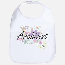 Archivist Artistic Job Design with Flowers Bib