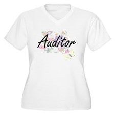 Auditor Artistic Job Design with Plus Size T-Shirt