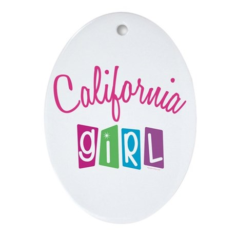 CALIFORNIA GIRL! Oval Ornament