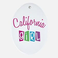 CALIFORNIA GIRL! Oval Ornament