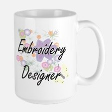 Embroidery Designer Artistic Job Design with Mugs