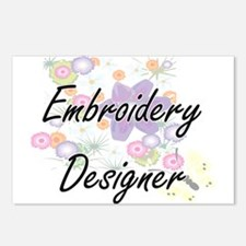 Embroidery Designer Artis Postcards (Package of 8)