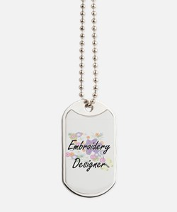 Embroidery Designer Artistic Job Design w Dog Tags