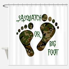 SASQUATCH OR BIG FOOT Shower Curtain