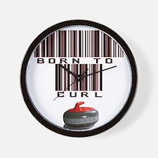 Born to Curl Wall Clock