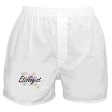 Etiologist Artistic Job Design with F Boxer Shorts