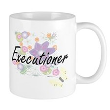 Executioner Artistic Job Design with Flowers Mugs