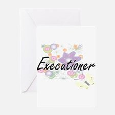 Executioner Artistic Job Design wit Greeting Cards