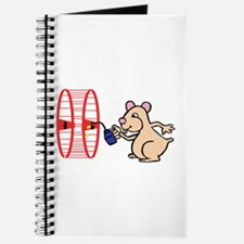 Hamster with Squeaky Wheel Journal