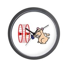Hamster with Squeaky Wheel Wall Clock