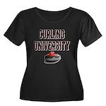Curling University Women's Plus Size Scoop Neck Da