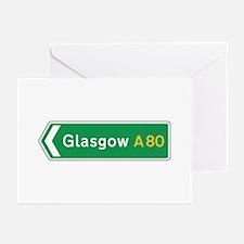 Glasgow Roadmarker, UK Greeting Cards (Pk of 10)