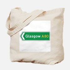Glasgow Roadmarker, UK Tote Bag