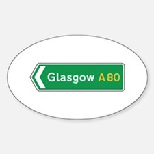 Glasgow Roadmarker, UK Oval Decal