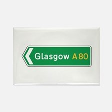 Glasgow Roadmarker, UK Rectangle Magnet