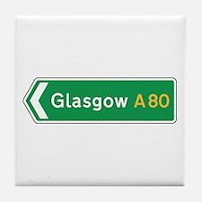 Glasgow Roadmarker, UK Tile Coaster