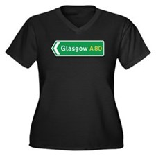 Glasgow Roadmarker, UK Women's Plus Size V-Neck D