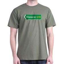 Glasgow Roadmarker, UK T-Shirt