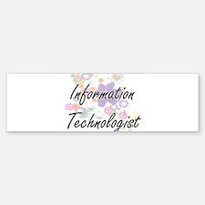 Information Technologist Artistic J Bumper Bumper Bumper Sticker