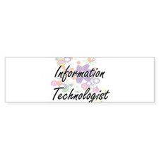 Information Technologist Artistic J Bumper Bumper Sticker