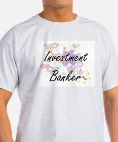 Investment Banker Artistic Job Design with T-Shirt