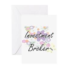 Investment Broker Artistic Job Desi Greeting Cards