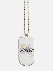 Iridologist Artistic Job Design with Flow Dog Tags