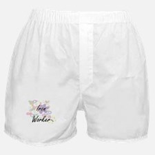 Iron Worker Artistic Job Design with Boxer Shorts