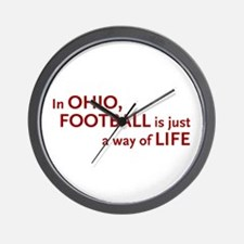 Football Ohio Wall Clock