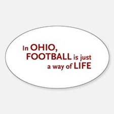Football Ohio Oval Decal
