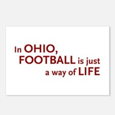 Football Ohio Postcards (Package of 8)