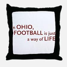 Football Ohio Throw Pillow