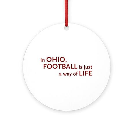 Football Ohio Ornament (Round)