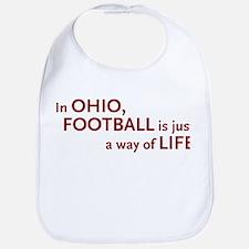 Football Ohio Bib