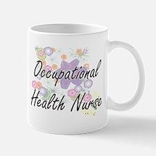 Occupational Health Nurse Artistic Job Design Mugs