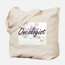 Oncologist Artistic Job Design with Flowe Tote Bag