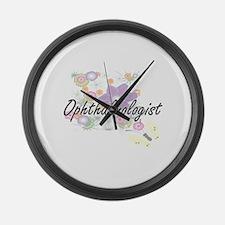 Ophthalmologist Artistic Job Desi Large Wall Clock