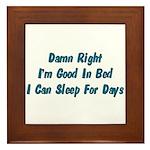 Good In Bed Framed Tile
