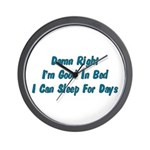 Good In Bed Wall Clock