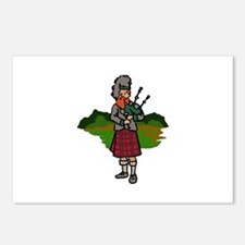 Scottish Bagpiper Postcards (Package of 8)