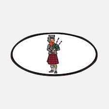 Scottish Bagpiper Patch
