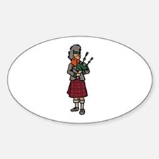 Scottish Bagpiper Decal