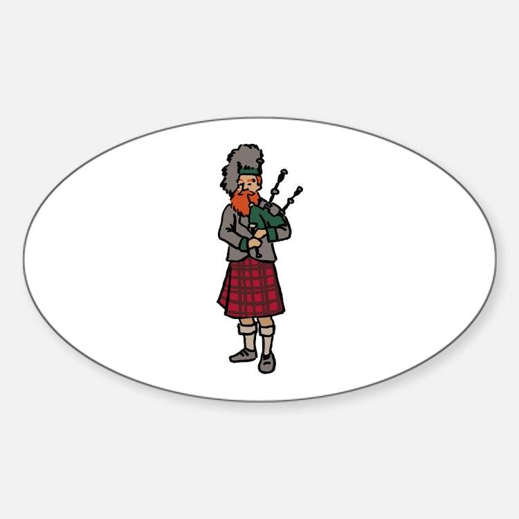 Scottish Bagpiper Decal
