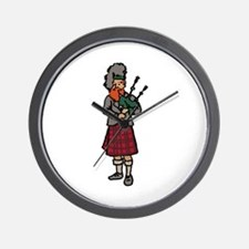 Scottish Bagpiper Wall Clock