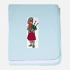 Scottish Bagpiper baby blanket