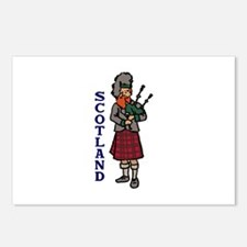 Scotland Bagpipes Postcards (Package of 8)