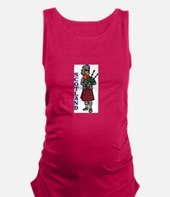 Scotland Bagpipes Maternity Tank Top