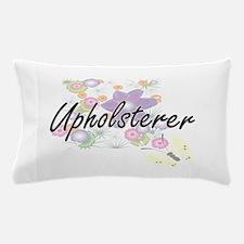 Upholsterer Artistic Job Design with F Pillow Case